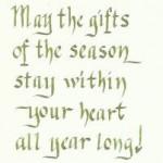 Eileen London - Christmas Card 2010 (inside)